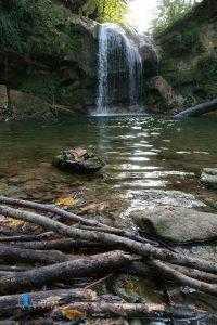 نمای آبشار تیرکان