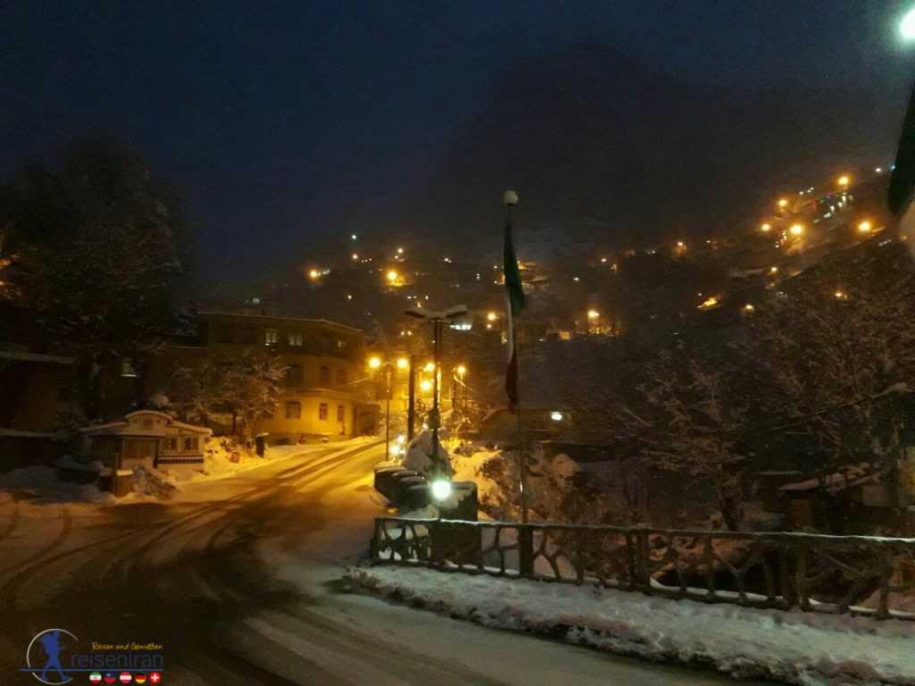 ماسوله در شب برفی