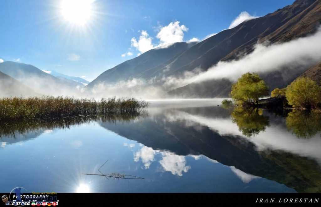 نمای زیبای دریاچه گهر