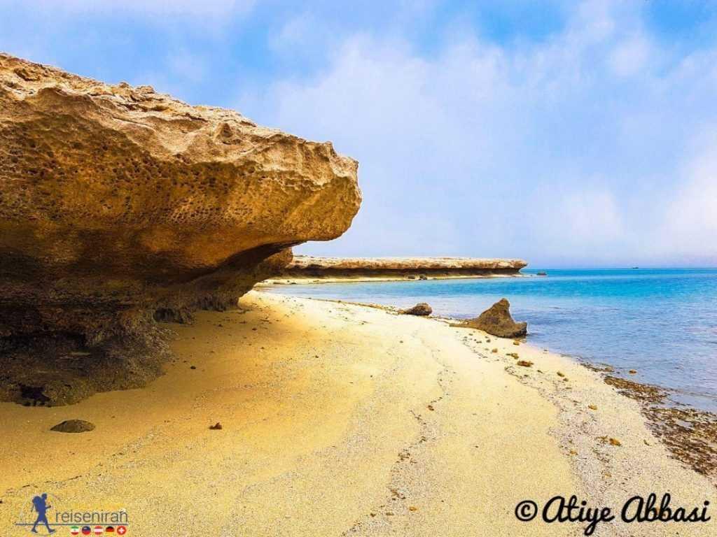 ساحل زیبای نایبند عسلویه
