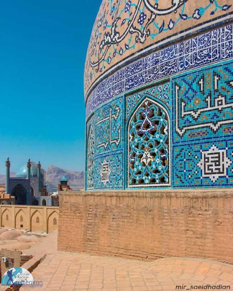 نمای مسجد شاه از بالای مسجد شیخ لطف الله