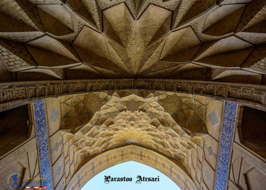 مقرنس کاری زیبای مسجد جامع اصفهان