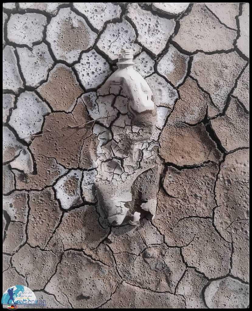 بستر خشک دریاچه ارومیه