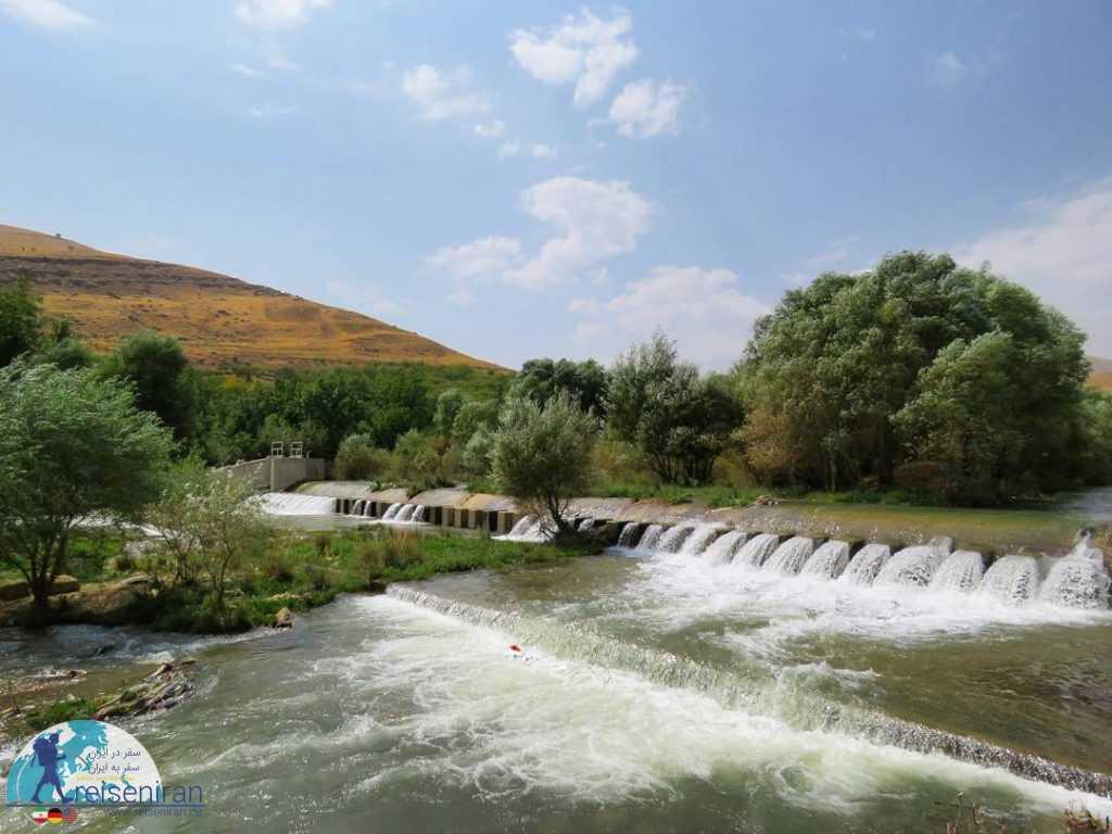رودخانه شهرچای در بهار