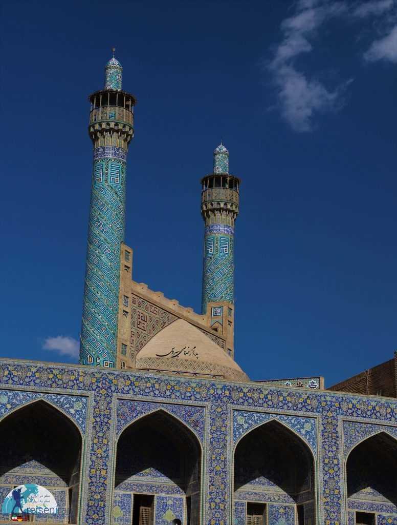 زاویه بندی های ورودیه مسجد شاه اصفهان