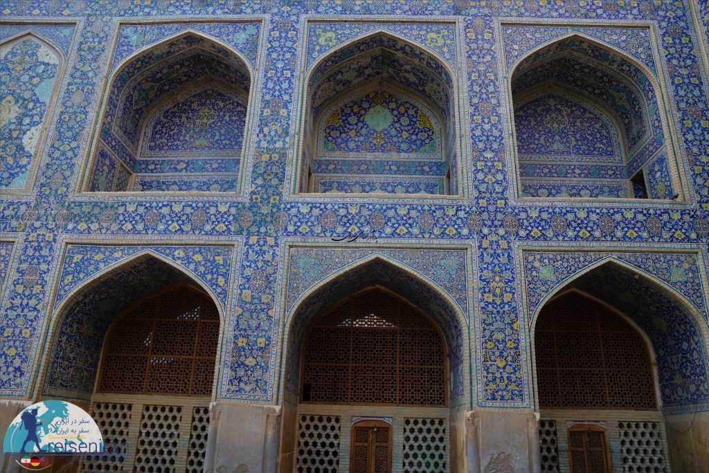 معماری بخش های مختلف مسجد شاه اصفهان
