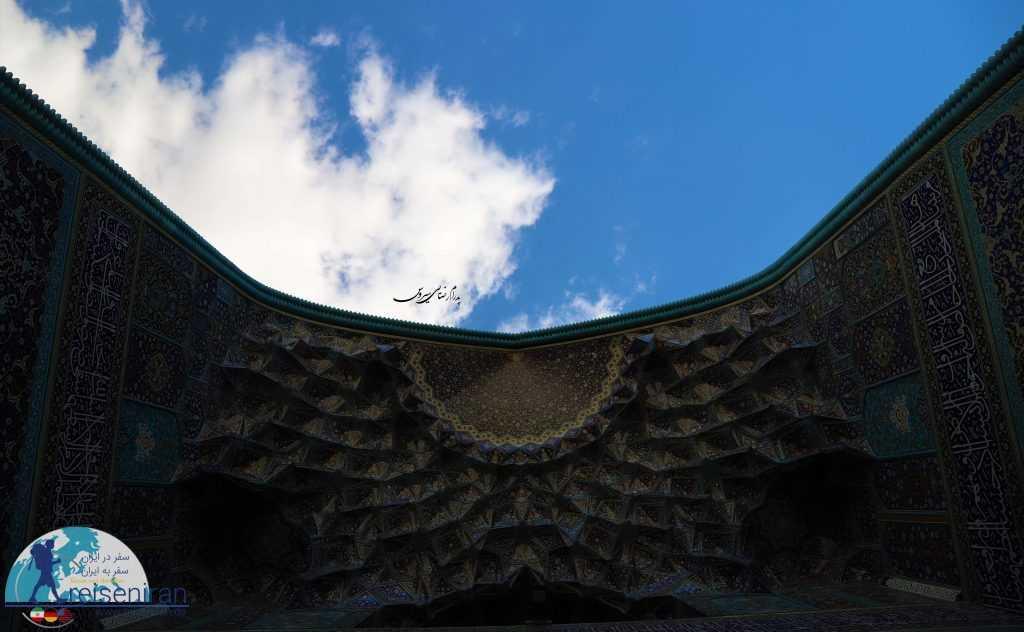 مقرنس کاری های رویایی مسجد شاه اصفهان