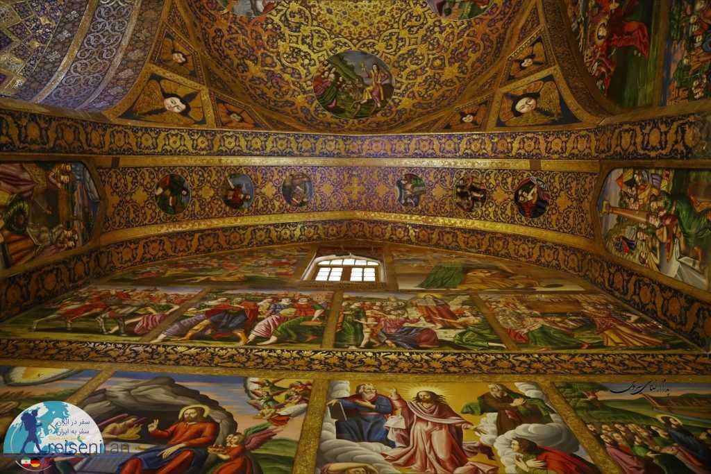نقاشی های سقف و دیواره کلیسا وانک