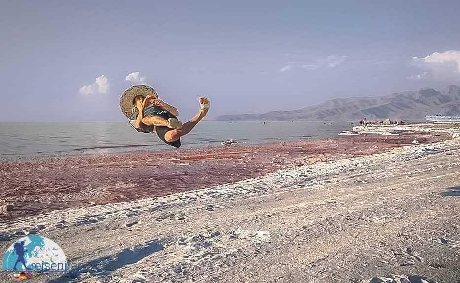 ورزش در کنار دریاچه ارومیه