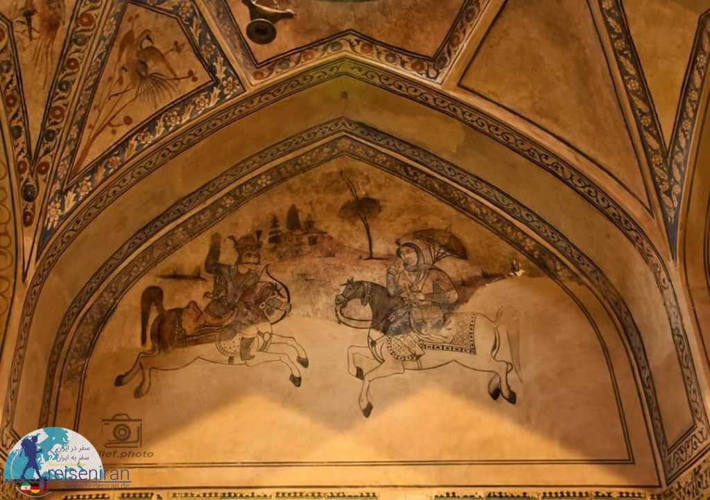 نقاشی دیواری حمام علی قلی آقا اصفهان