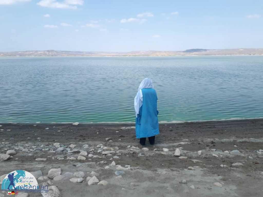 نمای دریاچه سد ارس