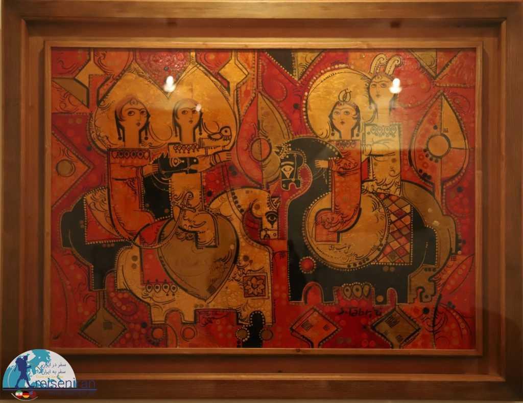 چهار زن سوار بر اسب، اثر صادق تبریزی