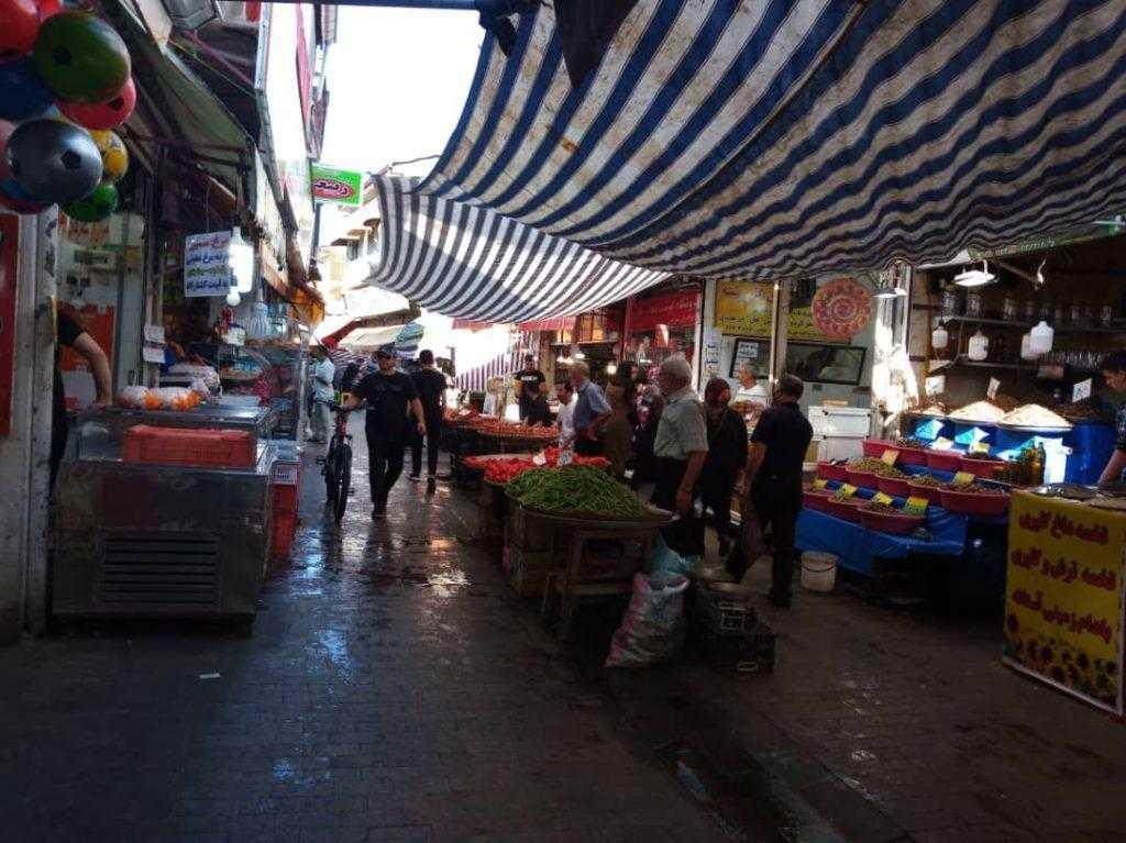 بازار شهر رشت
