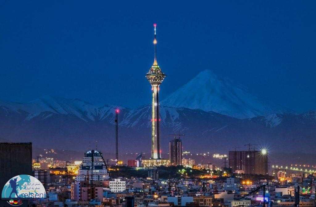 نمای قله دماوند از تهران