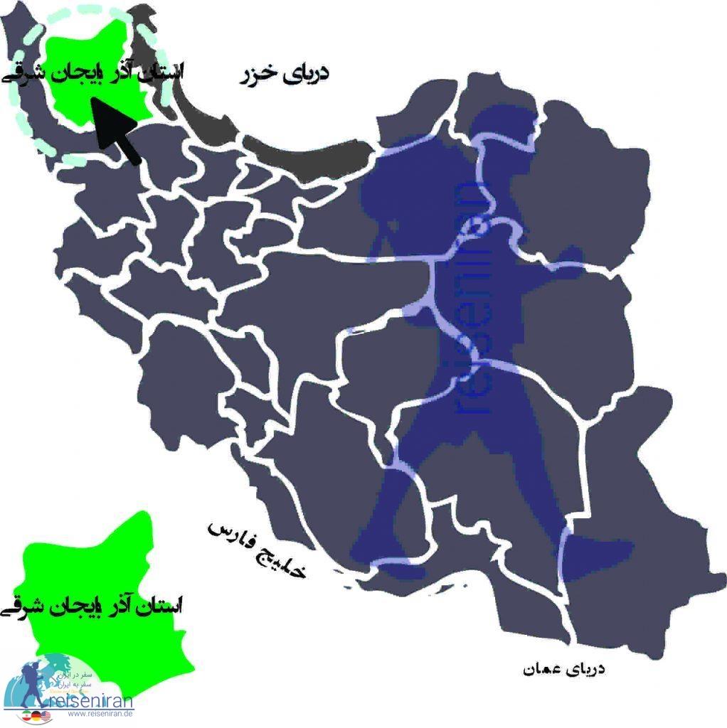 نقشه استان آذربایجان شرقی