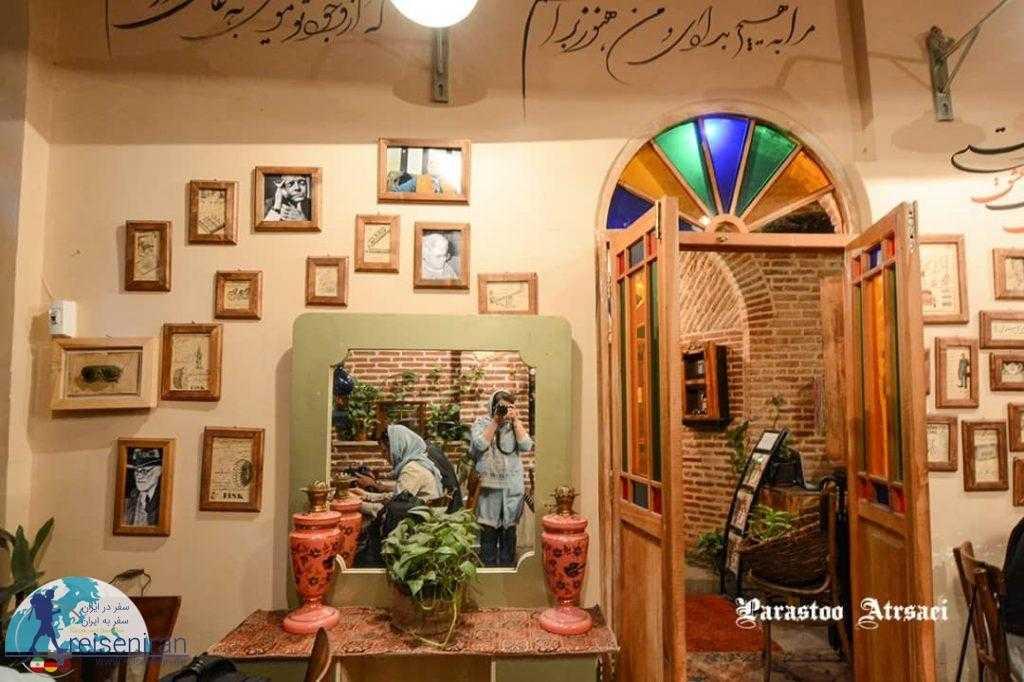 فضای داخلی کافه ارثیه قزوین