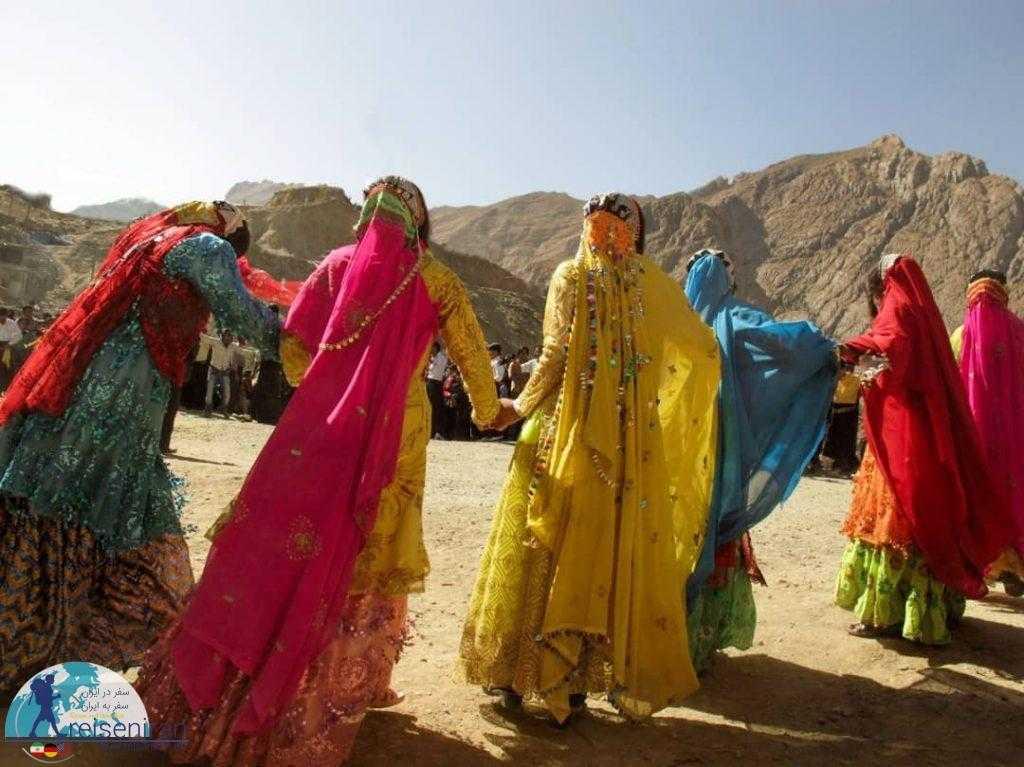 لباس زیبای قوم بختیاری در مراسم عروسی