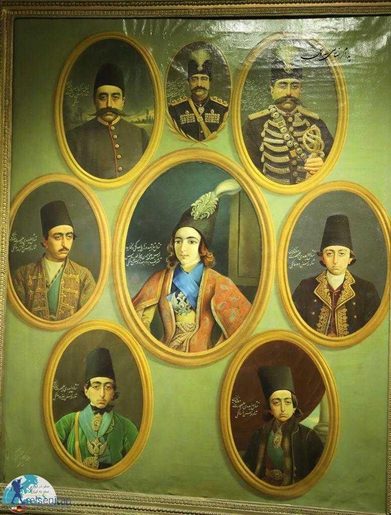 ناصرالدین شاه و مظفردین شاه در سنین مختلف. نقاش کمال الملک