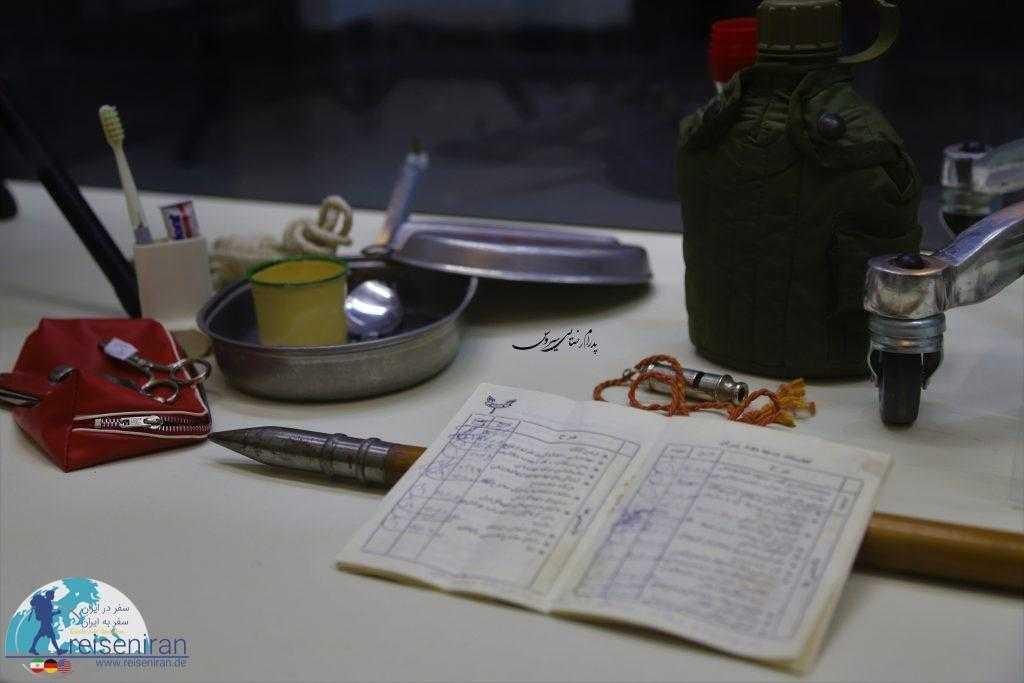 نمونه وسایل سربازی قدیم در کوشک احمدشاهی