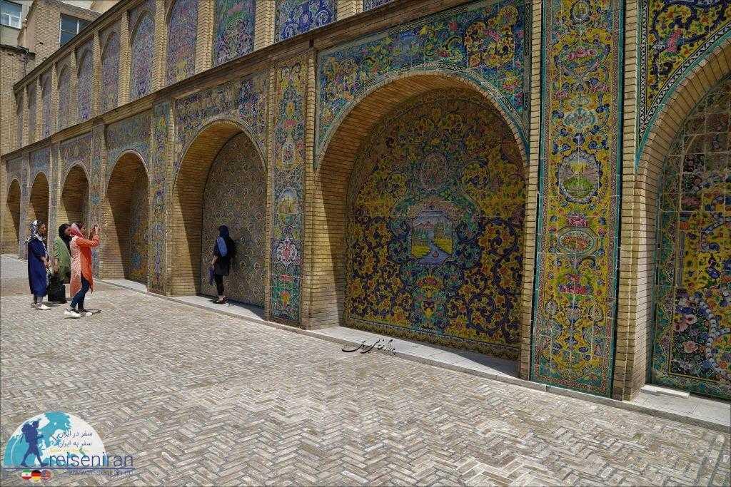 کاشیهای زیبای کاخ گلستان و عکاسی...