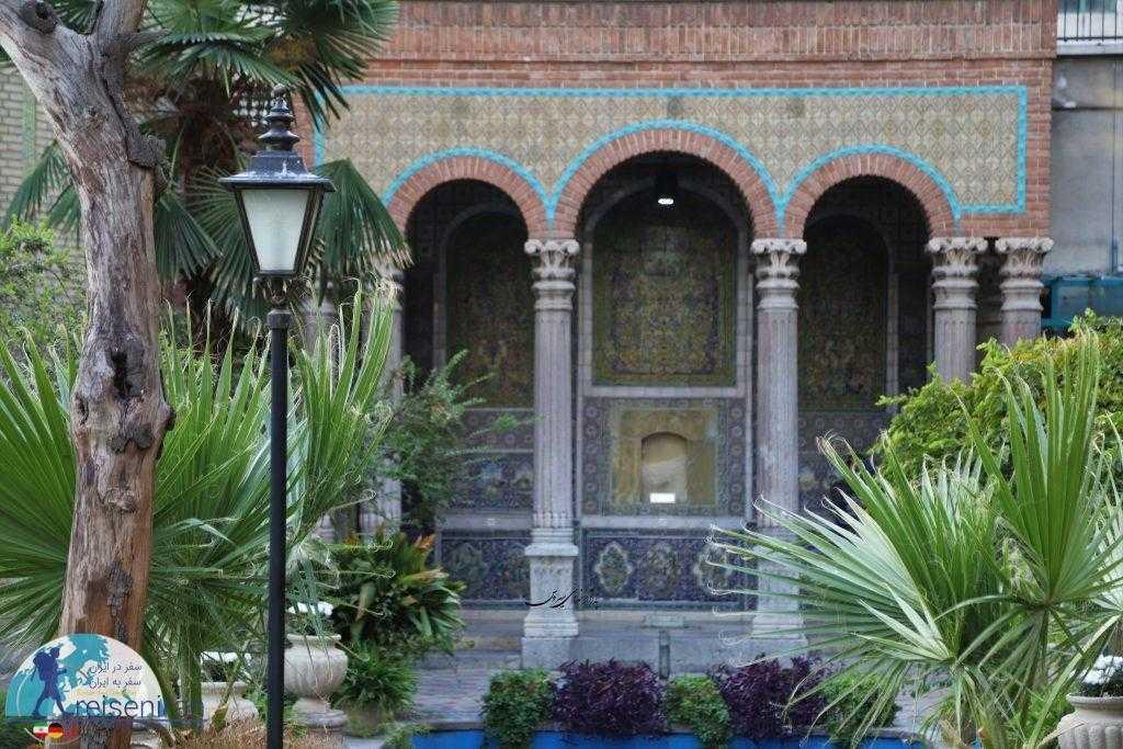 حیاط خانه مقدم تهران