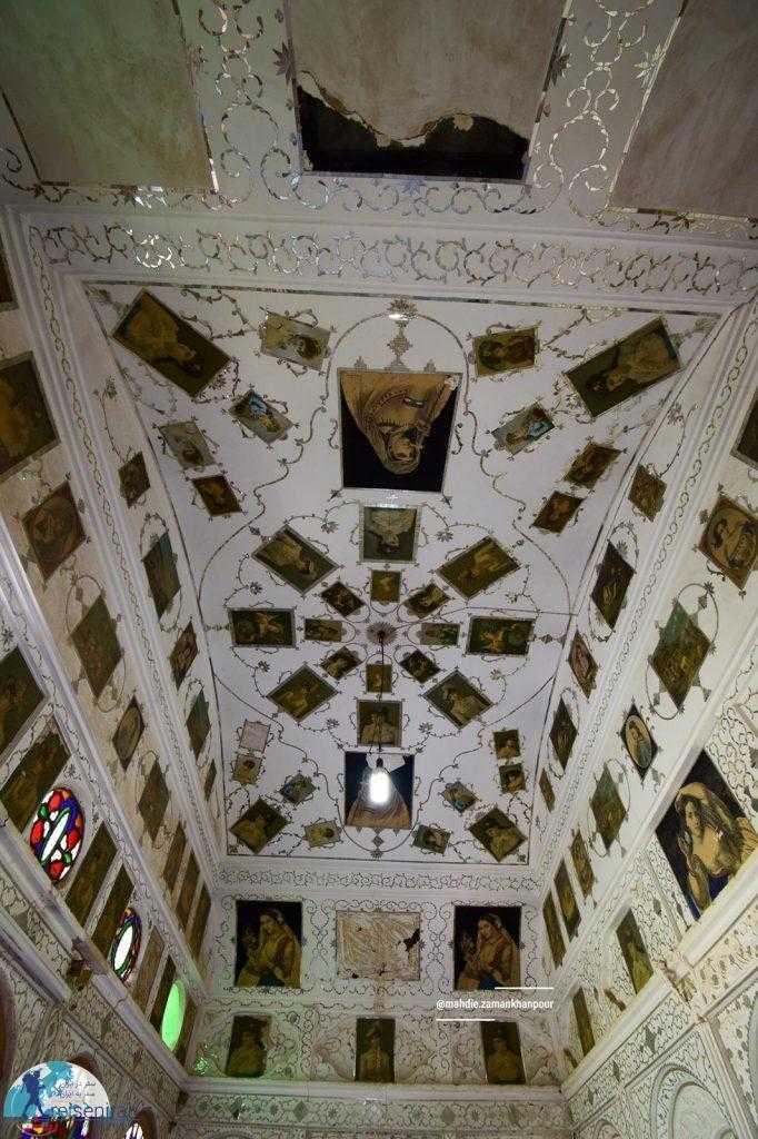 سقف و تزئینات خانه لاری ها