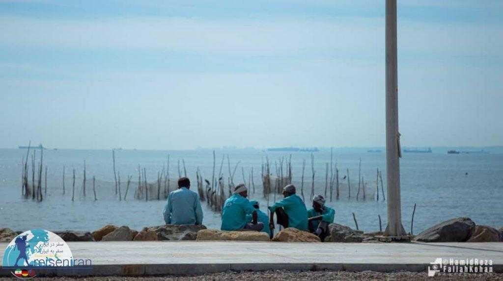 مردم بومی در ساحل بندرعباس