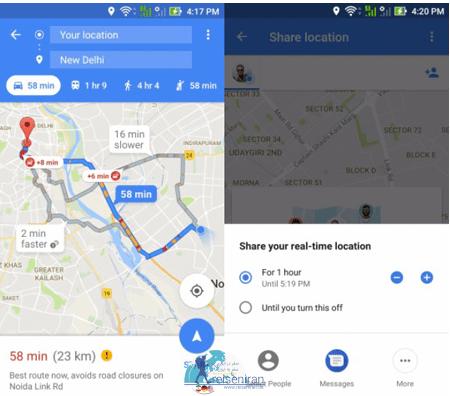 یافتن اطلاعات محلی در گوگل مپ