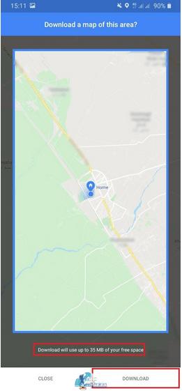 راهنمای استفاده از گوگل مپ در حالت آفلاینراهنمای استفاده از گوگل مپ در حالت آفلاین
