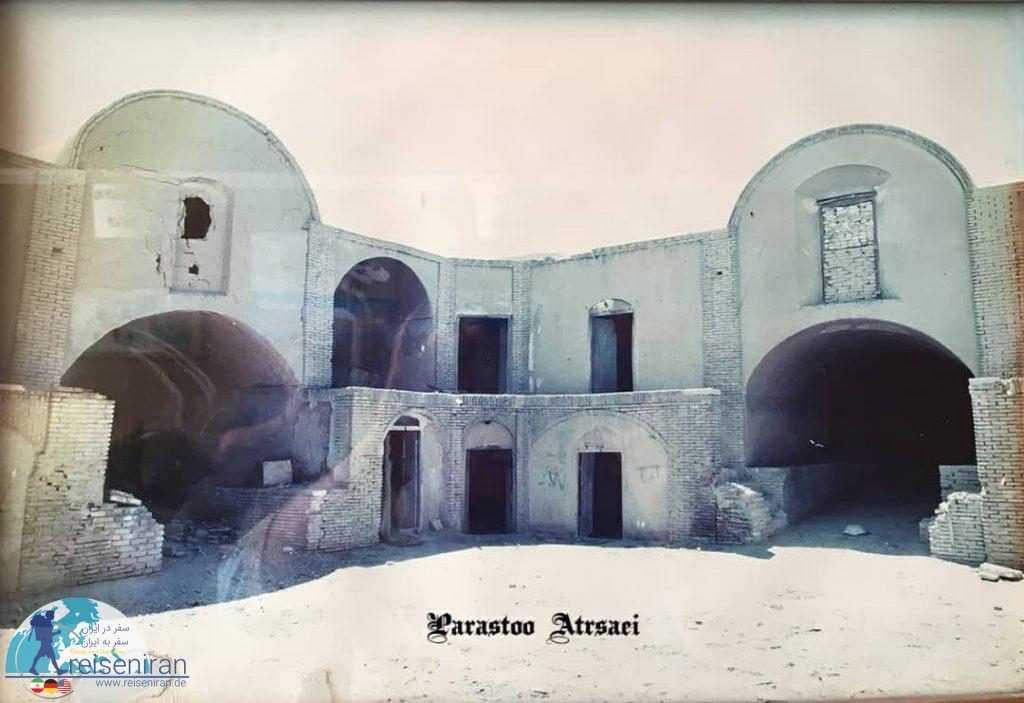 عکس قدیمی کاروان سرای مشیر یزد
