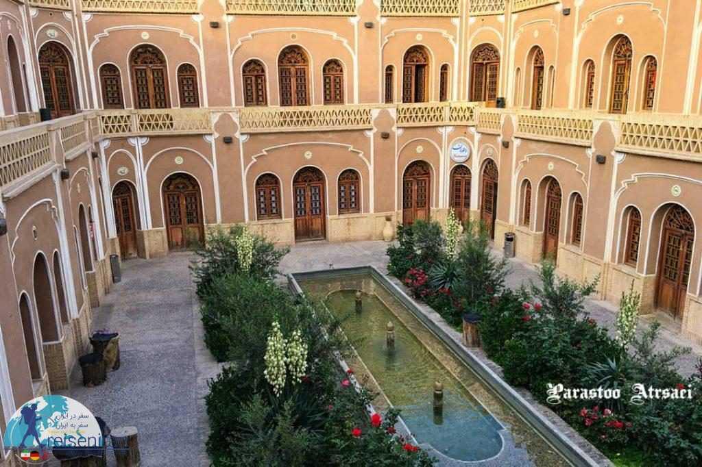 معماری هتل کاروانسرای مشیر یزد