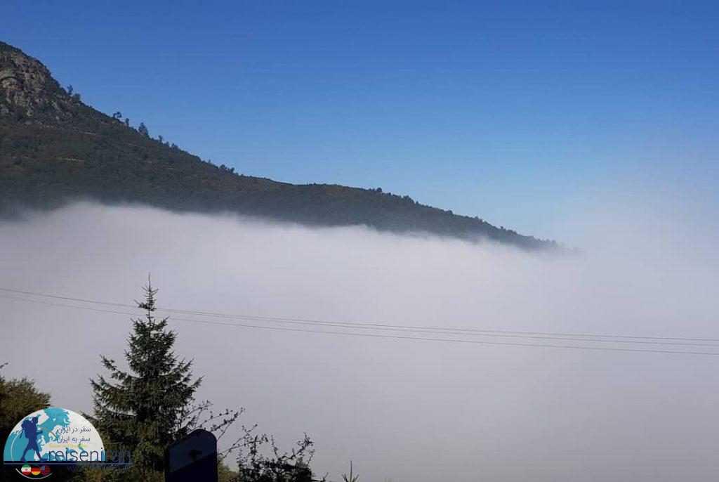 مه در جاده جواهرده رامسر
