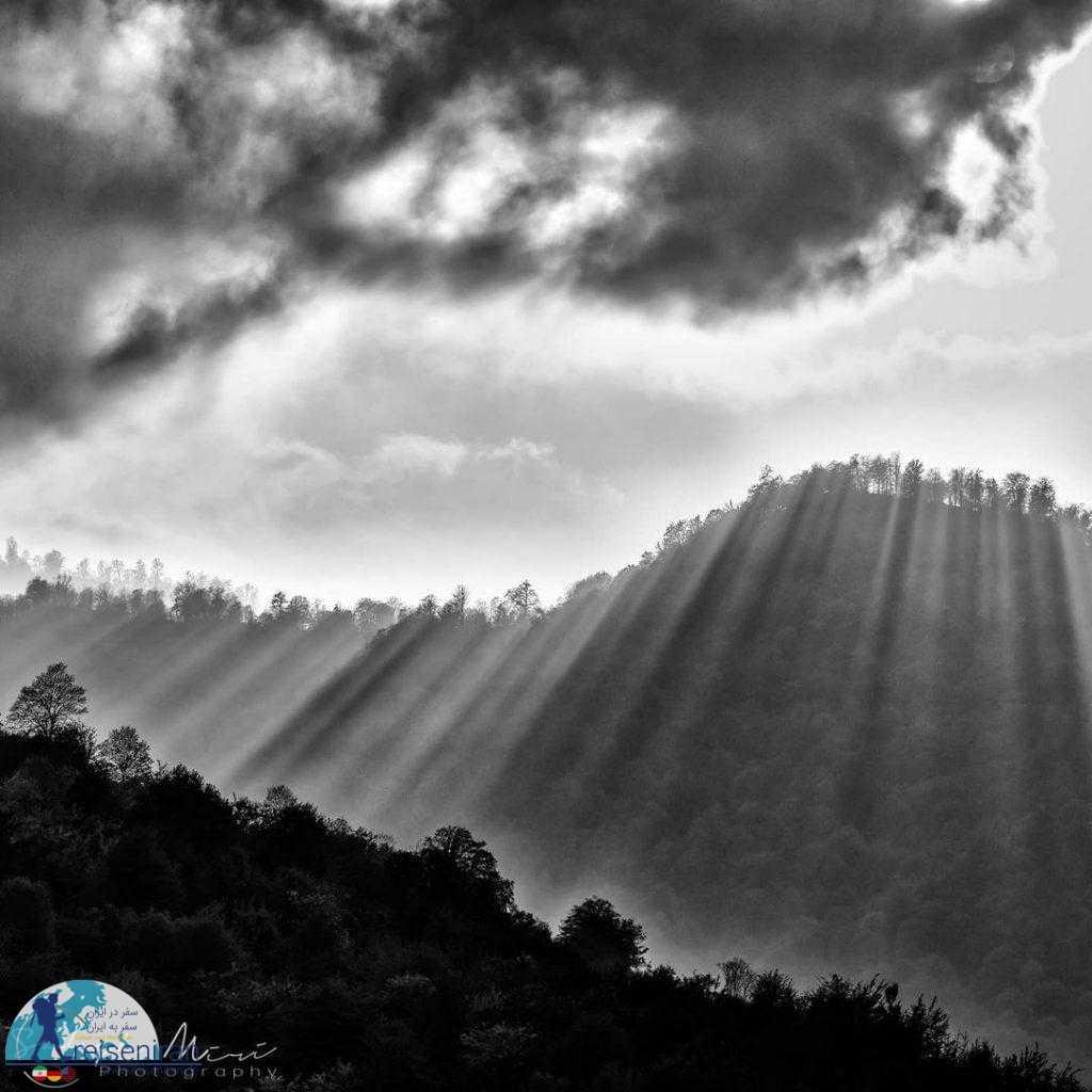 عکسی از ارتفاعات رشته کوه البرز