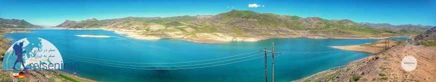 عکس پانوروما دریاچه سد تهم