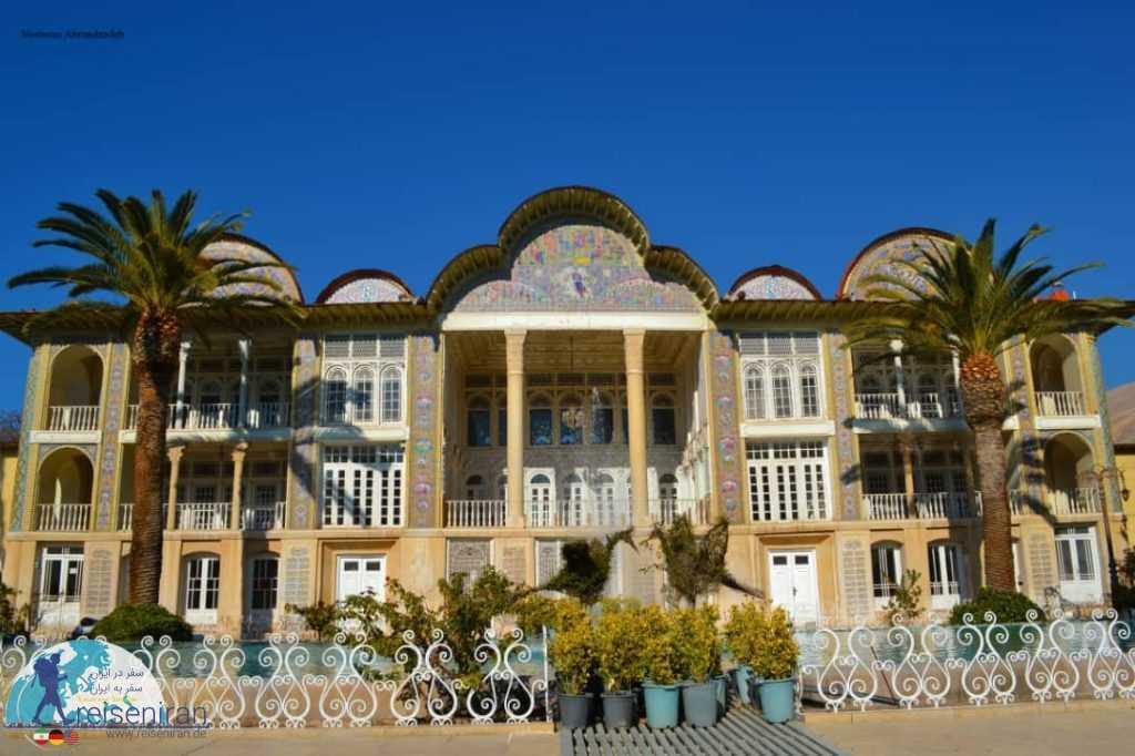 نمای باغ ارم شیراز