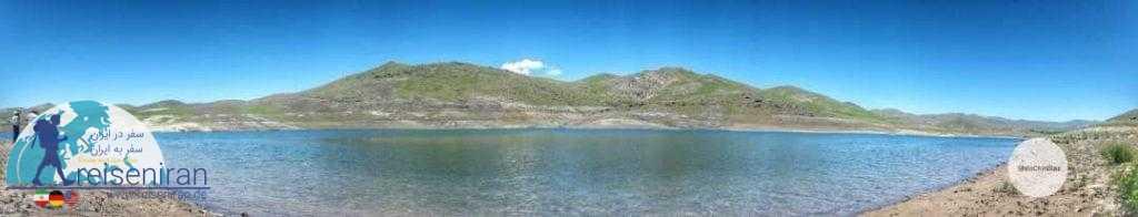 پانوروما دریاچه سد تهم