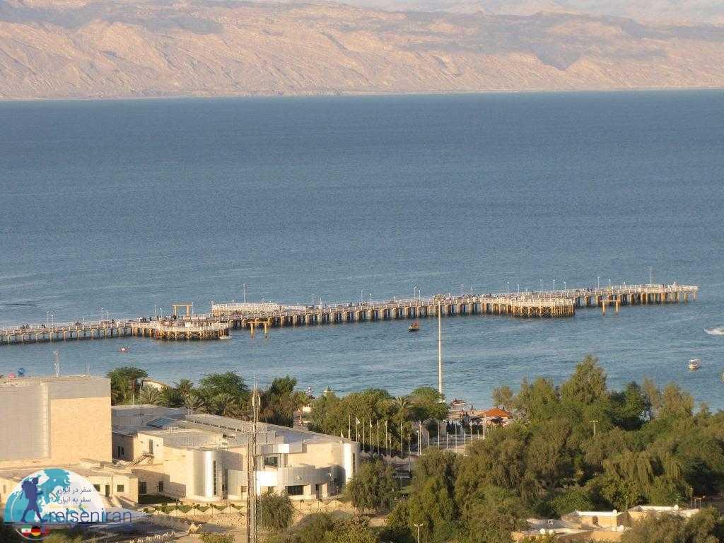 نمای خلیج فارس از جزیره کیش
