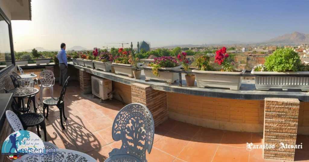 نمای اصفهان از هتل شیخ بهایی اصفهان