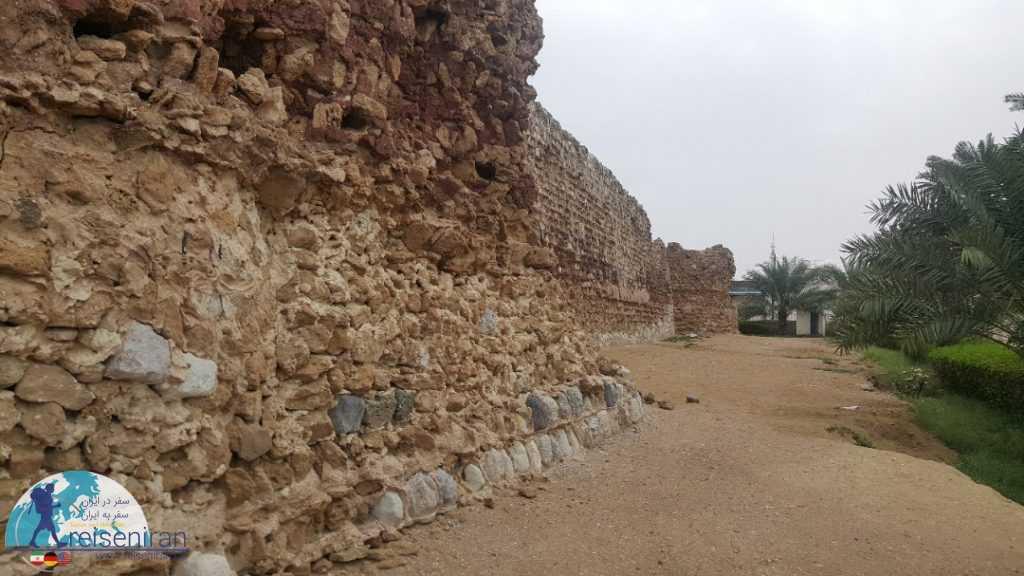 دیواره قلعه پرتغالی های جزیره قشم
