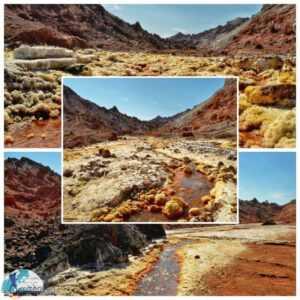 دره زعفرانی جزیره هرمز(رود طلایی هرمز)
