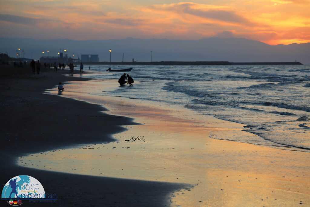 عکس ساحل بندر انزلی