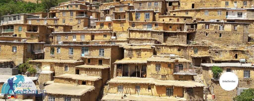 معماری روستا گلین کردستان