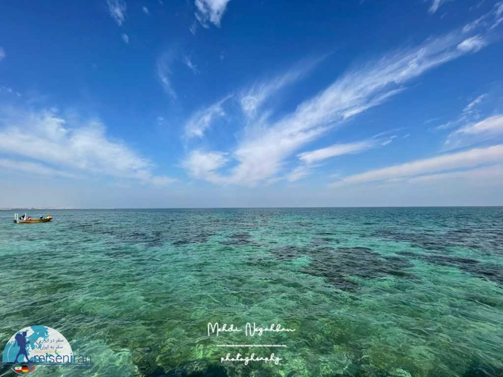 نمای خلیج فارس از جزیره مارو