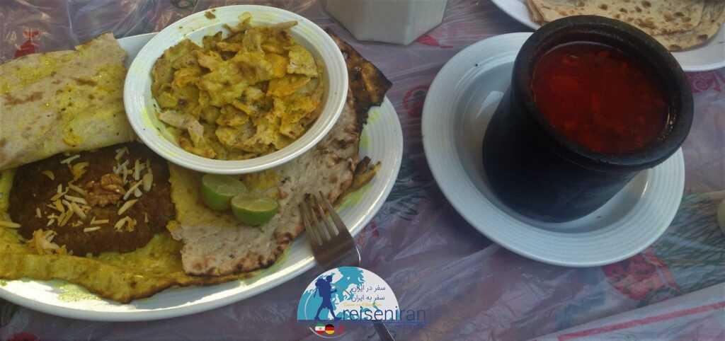 بریانی اصفهان و آب گوشت