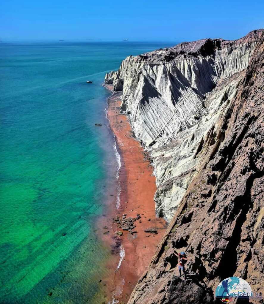 ساحل جزیره هرمز و خلیج فارس