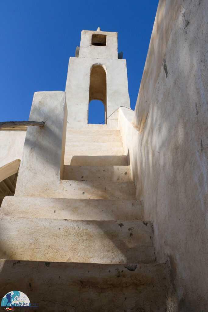 پله های مناره مسجد افغان