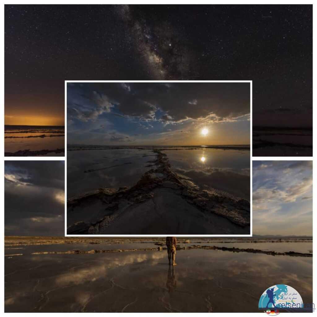 دریاچه مخرگه شهربابک(آینه طبیعی، دریاچه نمک شهر بابک)