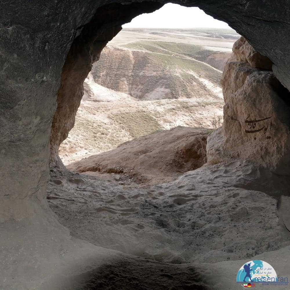 ورودی غار کهجوق مراغه